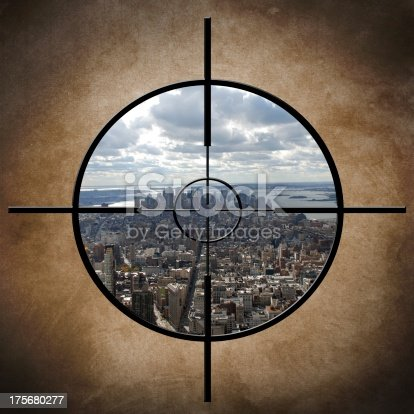istock Military target on New York 175680277