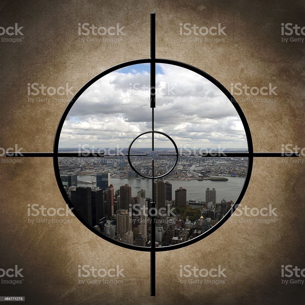 Military target on New York royalty-free stock photo