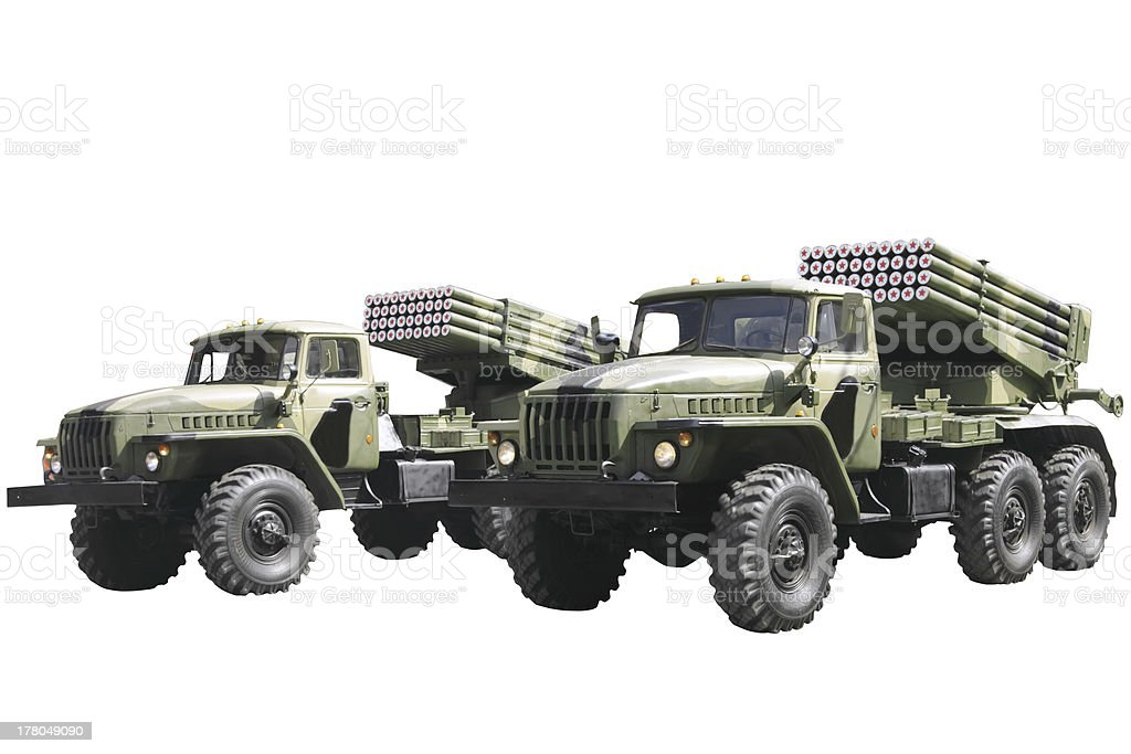 Military technics. Isolated stock photo