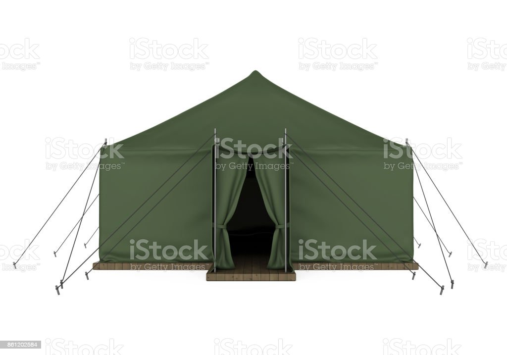 Military Tent Isolated stock photo