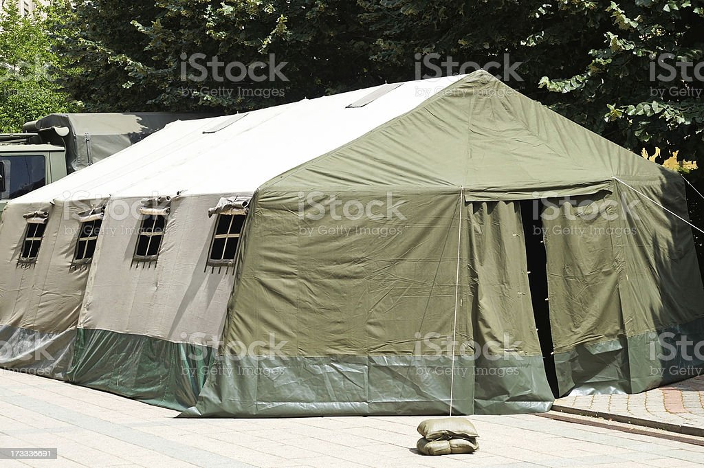 military tent royalty-free stock photo