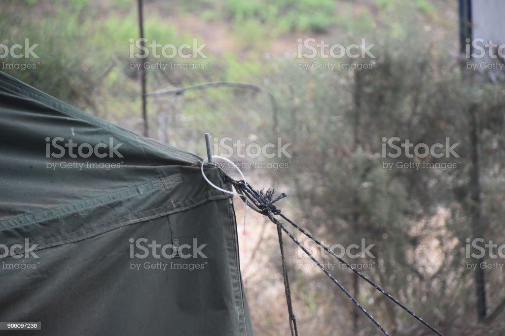 Militära tält - Royaltyfri Armé Bildbanksbilder