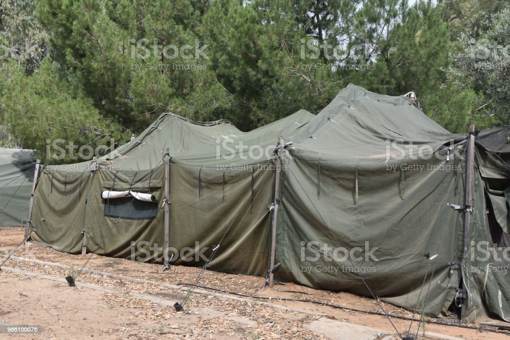 Military tent - Стоковые фото Армия роялти-фри