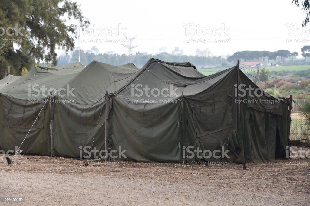 Military tent - Royalty-free Acampar Foto de stock