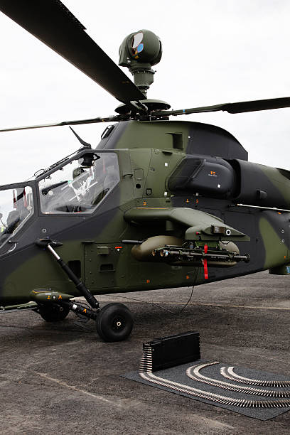 Military tiger helicopter stock photo