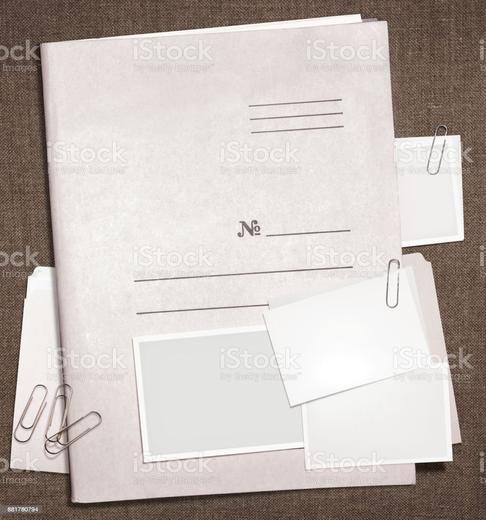military top secret folder stock photo