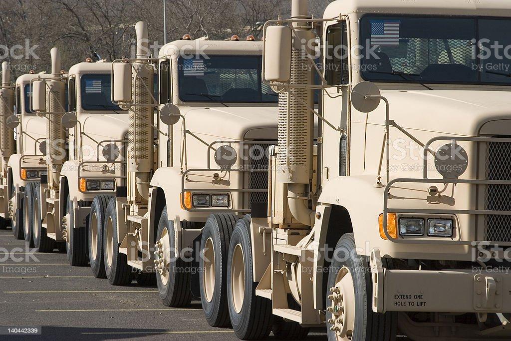 Military tractors stock photo
