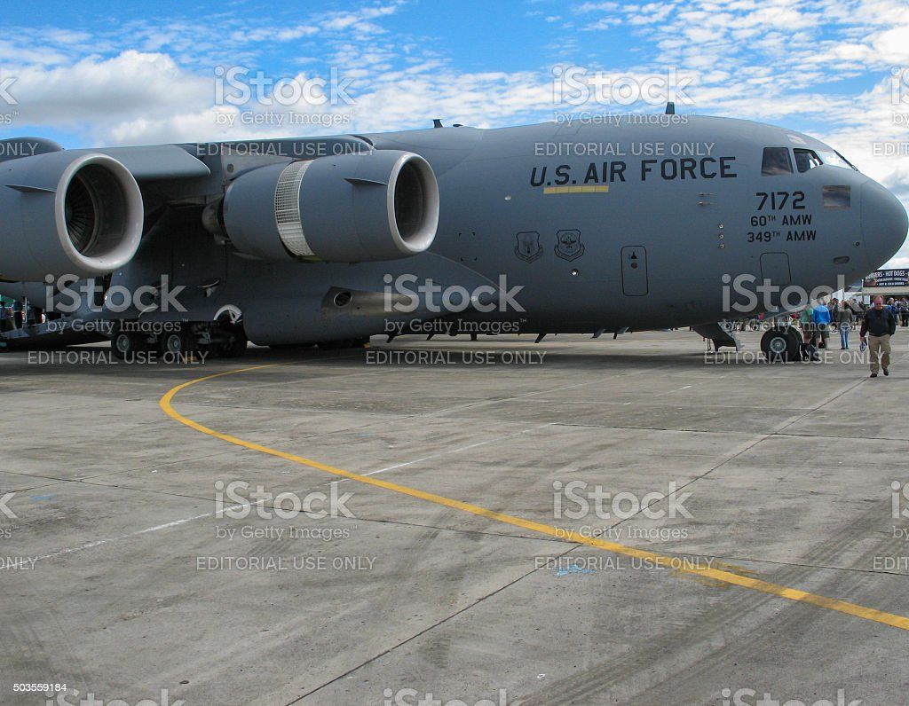 Military Transport Aircraft stock photo