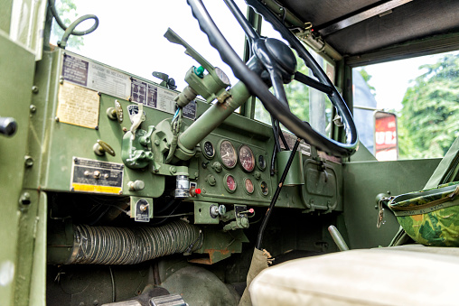 istock Military Transport Personnel Carrier Interior Close-up View 1009134614