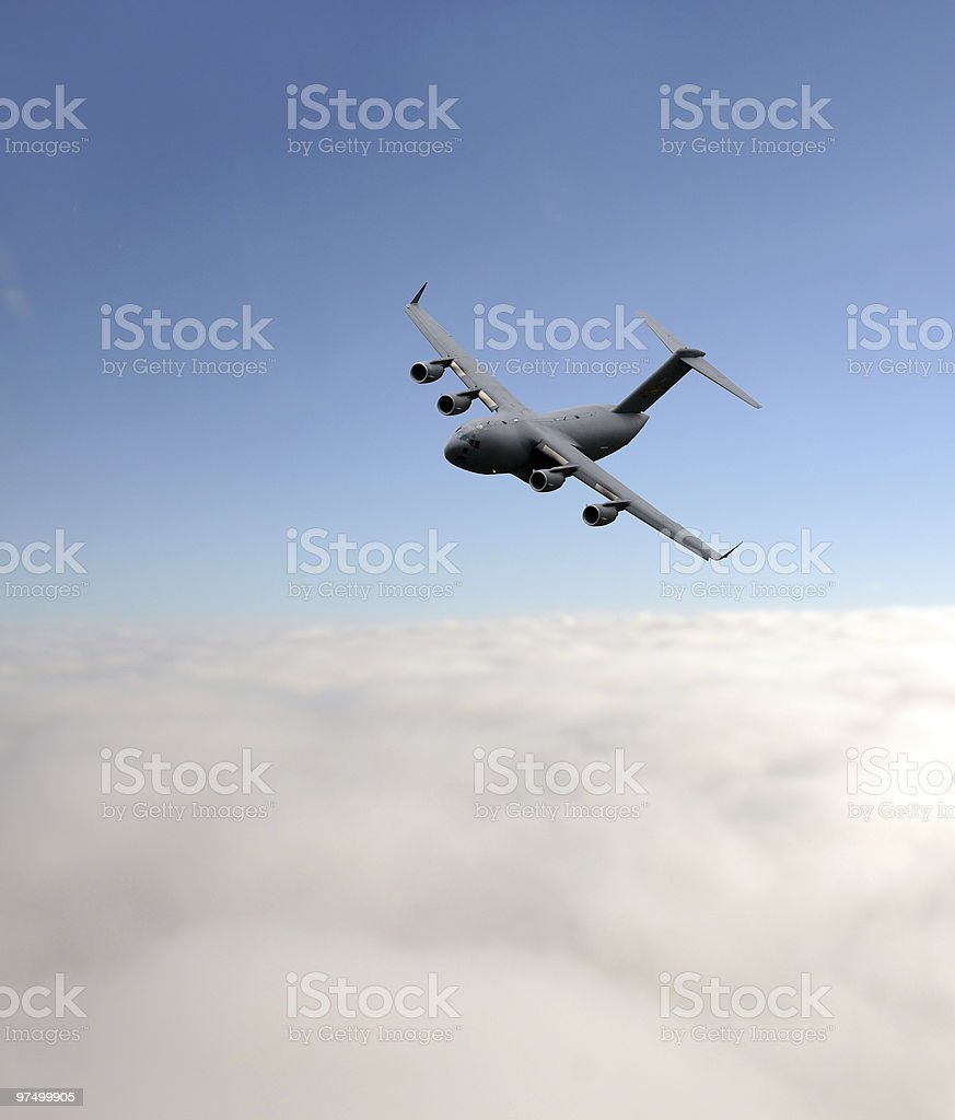 Military transport plane royalty-free stock photo