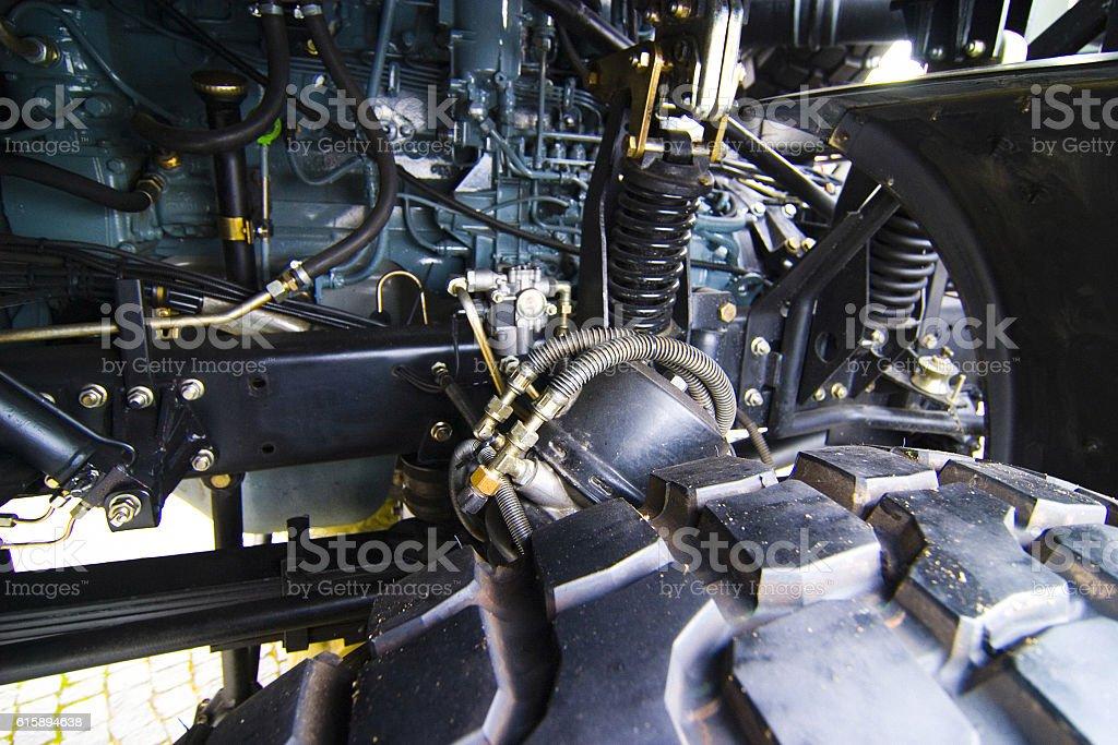 Military truck detail stock photo
