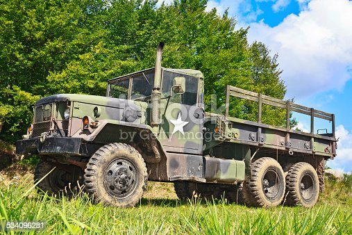 istock Military Truck M-923 A1 534096281