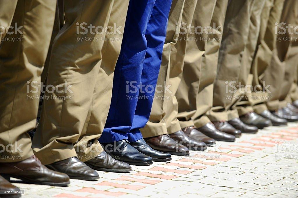 Military uniform detail stock photo