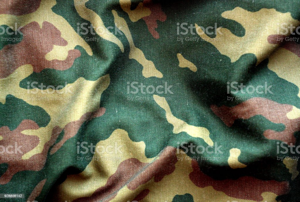 Military uniform pattern with blur effect. stock photo