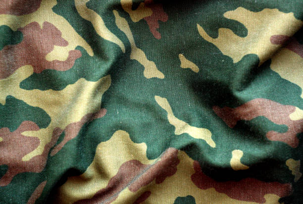 Military uniform pattern with blur effect. Military uniform pattern with blur effect. Abstract background and texture. camouflage stock pictures, royalty-free photos & images