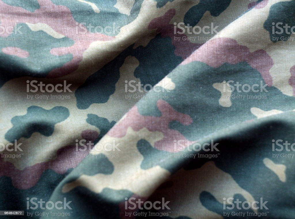 Military uniform pattern with blur effect royalty-free stock photo