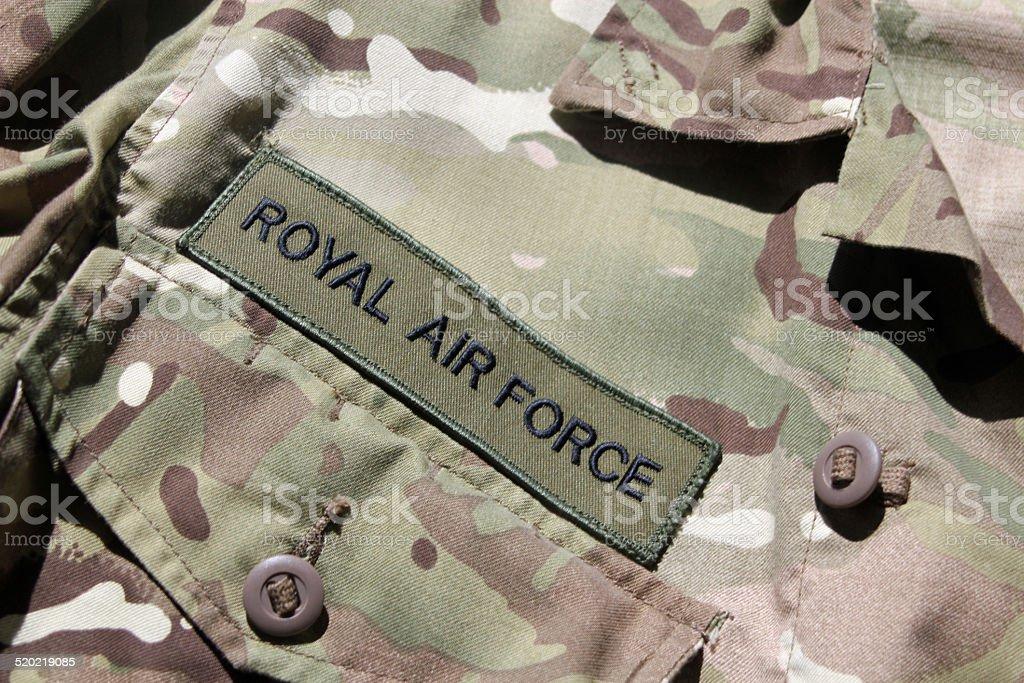 RAF military uniform stock photo
