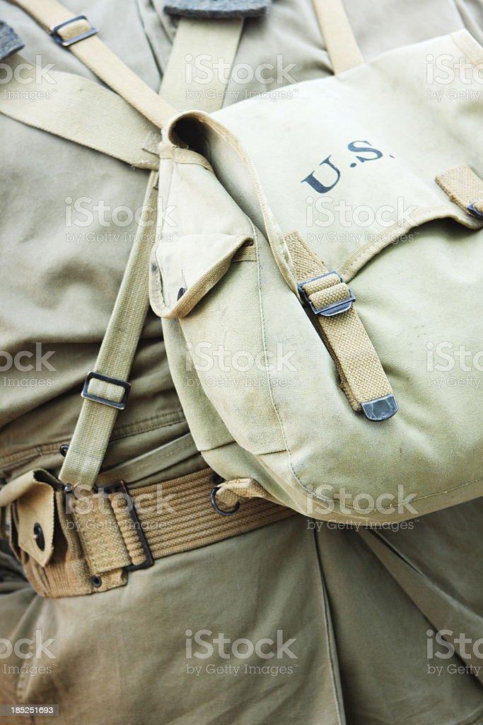 Military Uniform World War II Infantry Soldier royalty-free stock photo