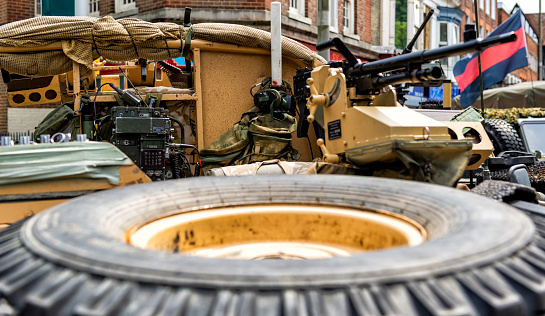 istock Military Vehicle Ready for Deployment 1009137346