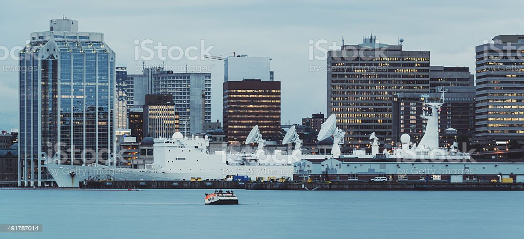 Military Vessel in Halifax Harbour stock photo