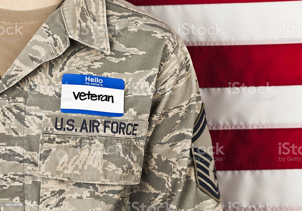 Military Veteran - Horizontal stock photo