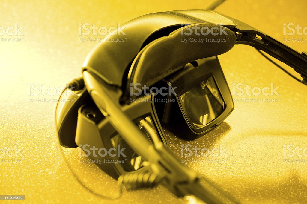 Military Video Glasses royalty-free stock photo