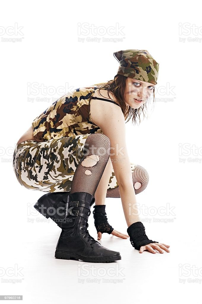 military woman royalty free stockfoto