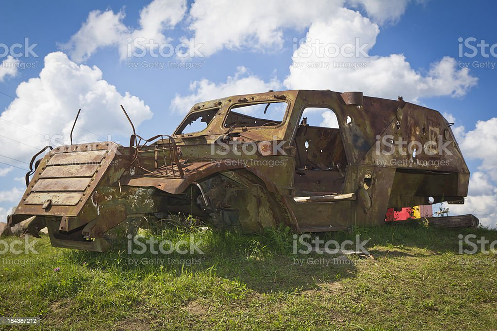 Military Wreck royalty-free stock photo