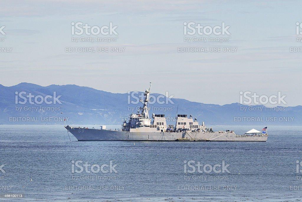 USS Milius (DDG69) at Anchor stock photo
