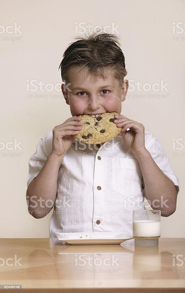 Milk and cookie stock photo