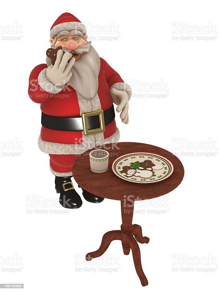 Milk and cookies for Santa royalty-free stock photo