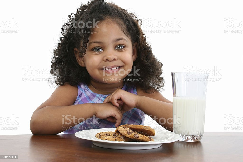 Milk and Cookies royalty-free stock photo