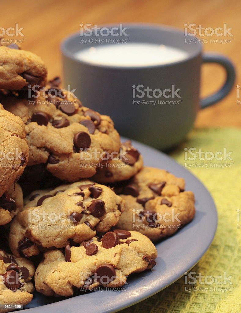 우유 및 쿠키 royalty-free 스톡 사진