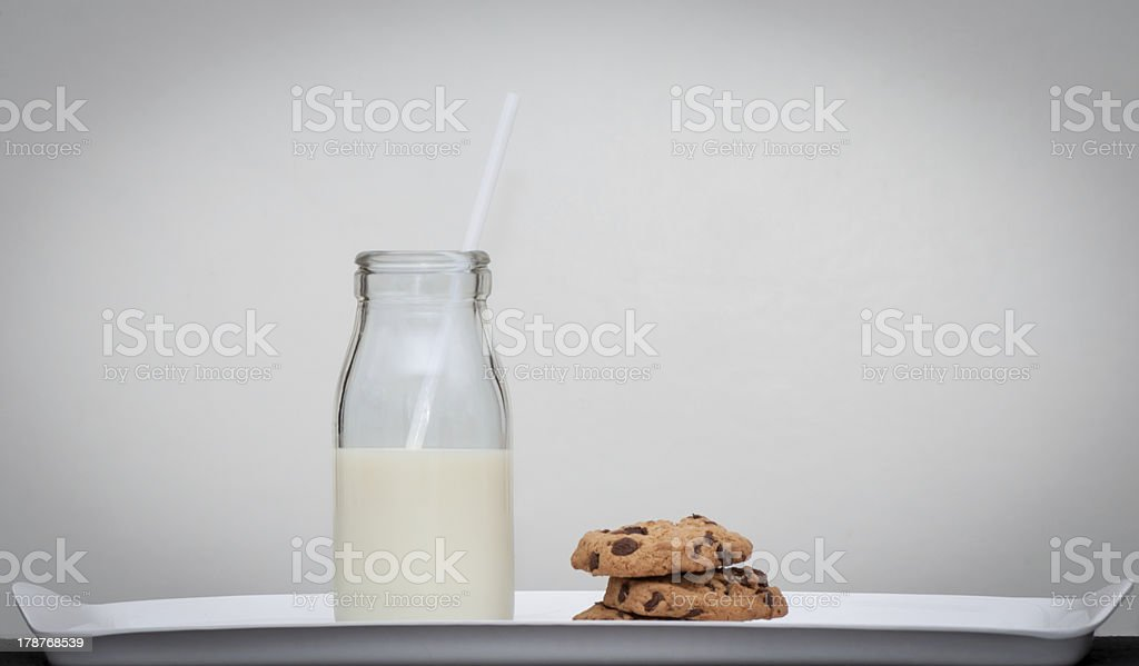 Milk And Cookies Vintage Style Stock Photo Download Image