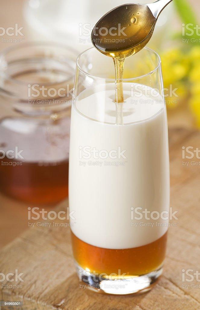 milk and honey royalty-free stock photo