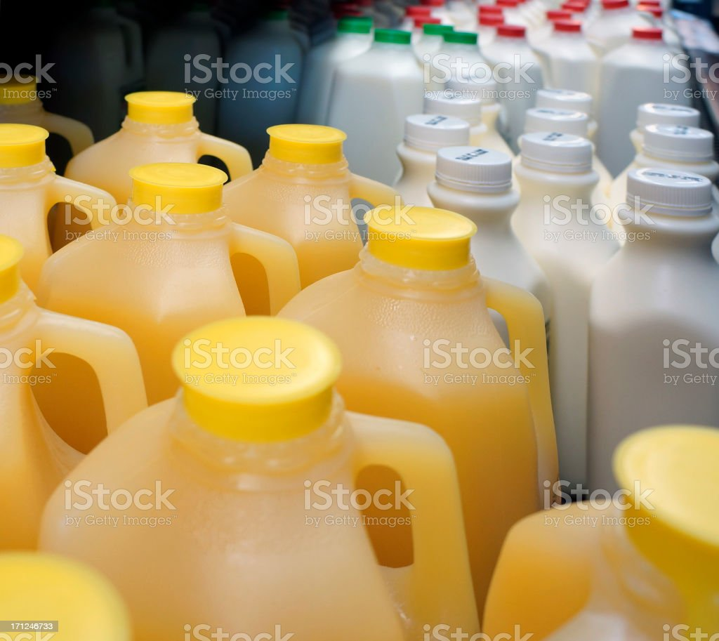 Milk and Juice royalty-free stock photo