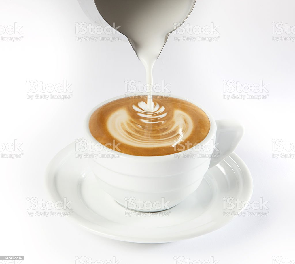 Latte Art royalty-free stock photo