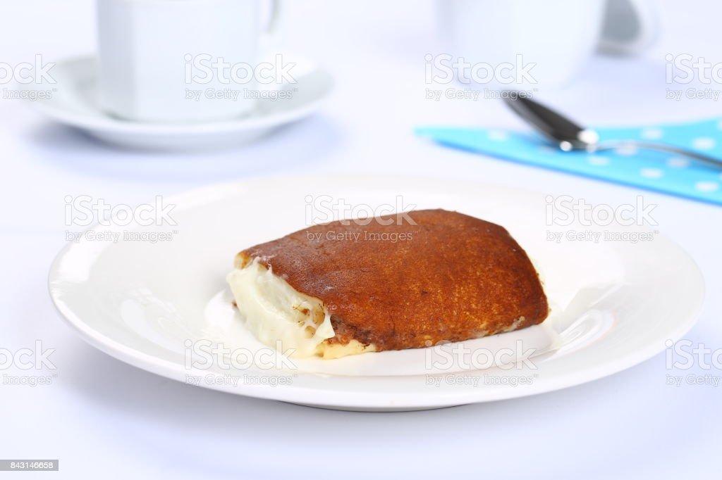 Milch Gebacken Pudding Turkische Dessert Kazandibi Stock Fotografie