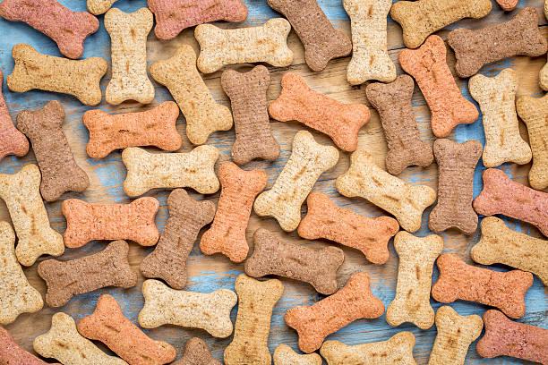 milk bones background stock photo