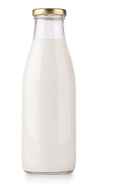 Milk Bottle + Clipping Path stock photo