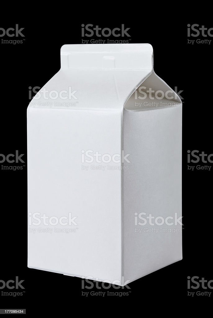 Milk Box per half liter on black royalty-free stock photo