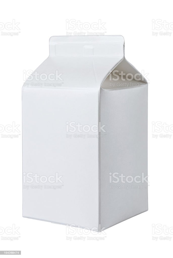 Milk Box per half liter on White stock photo