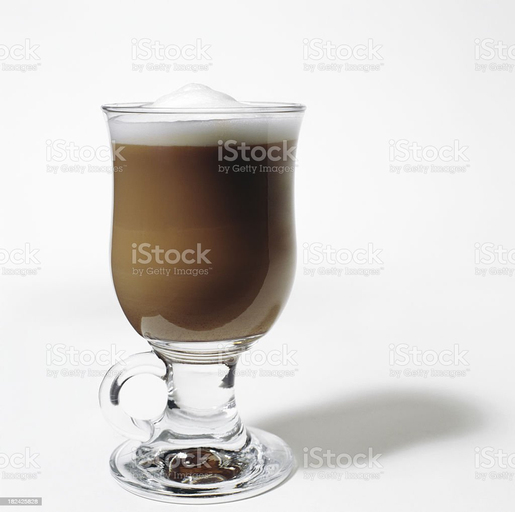 Cafe au lait or cappuccino royalty-free stock photo