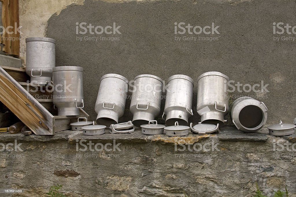 Milk Canisters, Milchkannen royalty-free stock photo