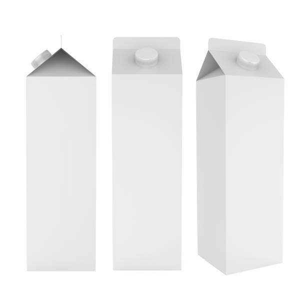 Boîtes de Carton de lait isolés - Photo