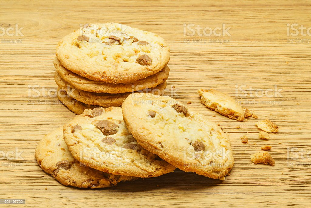 Milk chocolate almond cookies foto stock royalty-free