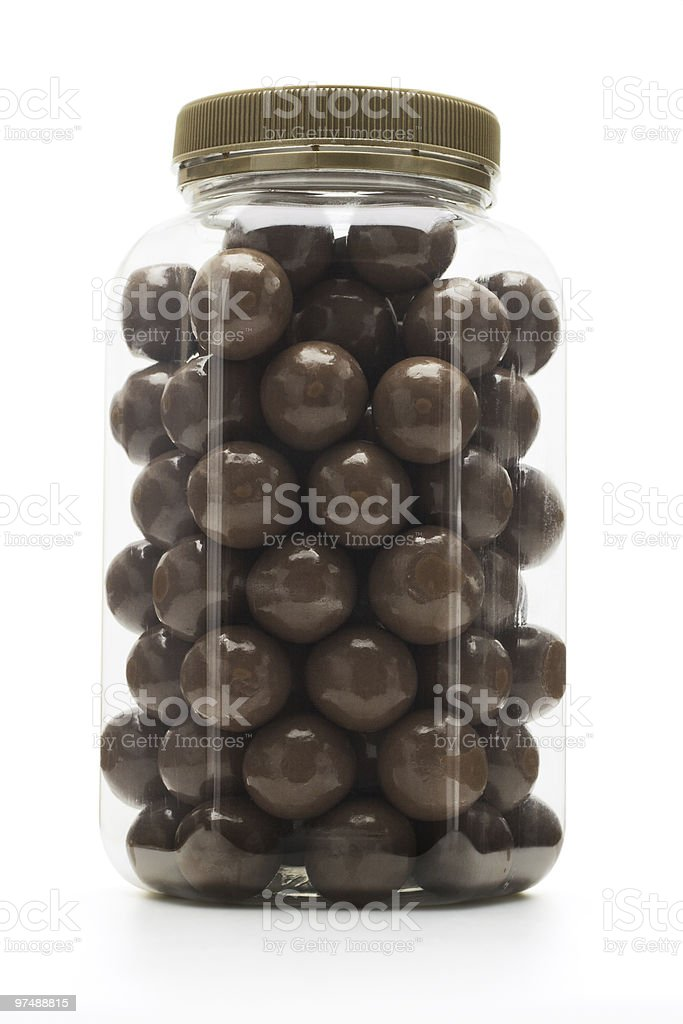 Milk chocolate coated nuts royalty-free stock photo