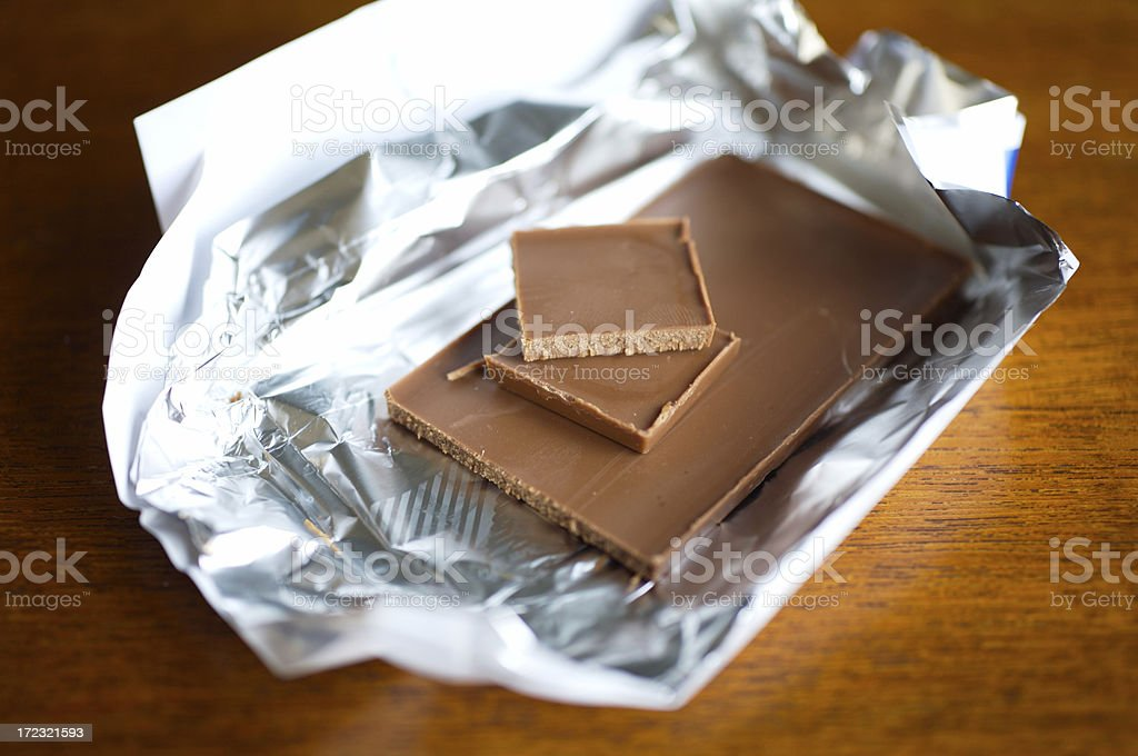 Milk Chocolate (with shallow depth of field) stock photo