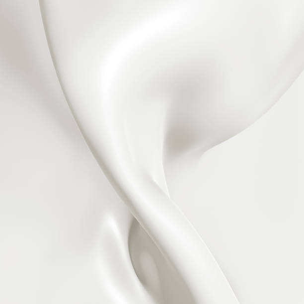 Milk close-up, abstract background. 3D illustration. stock photo