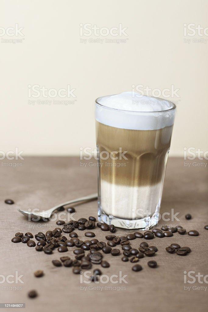 Milk coffee stock photo